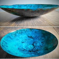 Andreucetti Copper Bowl in blue
