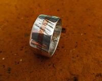 Andreucetti Silver and Copper Ring